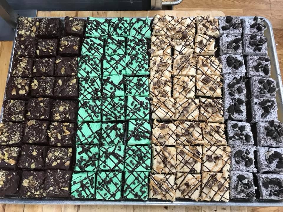 French cream icing brownies